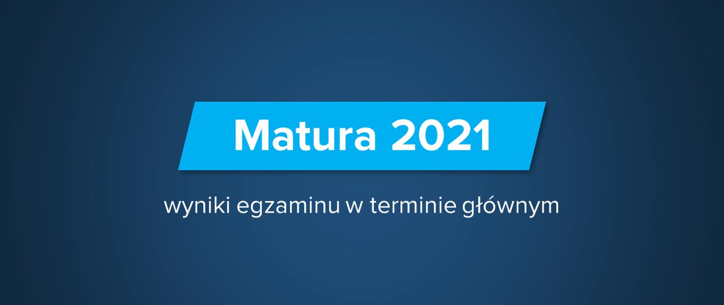 Matura 2021, wyniki egzaminu w terminie głównym